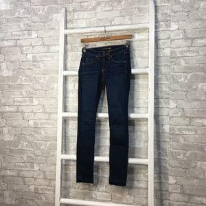 "Veronica Beard Brooke 8.5"" Skinny Dark Wash Jeans"